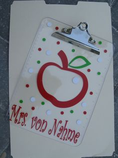 personalized clipboard from DeLaDesign