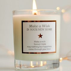 New Home Gift , Housewarming Gift , First Home Gift , Moving Home , Moving Out Gift , Scented Candles , Make A Wish In Your New Home ,Candle by MakeAWishCandleCo on Etsy https://www.etsy.com/uk/listing/264940576/new-home-gift-housewarming-gift-first
