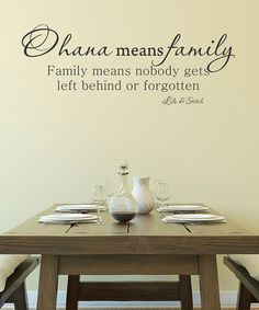 Wallquotes.com by Belvedere Designs Black Ohana Means Family Wall Quotes™ Decal | zulily