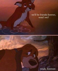 Friendship quote fox and the hound