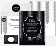 Modern Art Deco Wedding Invitation Set by PrintParlor on Etsy, $15.00