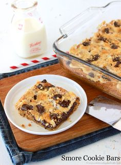 S'mores Cookie Bars from What's Cooking with Ruthie for Tatertots and Jello