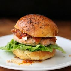 Salmon Burgers with Tomato Relish and Goat Cheese. Super-delicious and very easy to make!