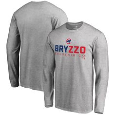 Men s Chicago Cubs Kris Bryant Anthony Rizzo Fanatics Branded Gray Bryzzo  Player Hometown Long Sleeve T-Shirt ff9227256
