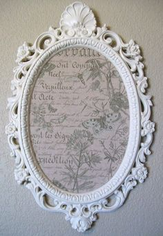 Could this be turned into a mirror? Mirror Photo Frames, Wall Mirror, Vintage Frames, Vintage Love, Fabric Memo Boards, Hanging Jewelry, Home Decor Store, Venetian Mirrors, Craft Projects