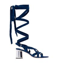 W's fashion assistant can't stop thinking about these sandals.....Lace It Up