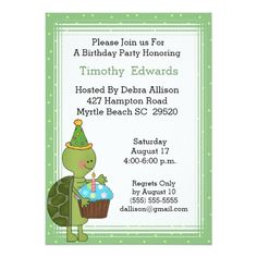 Turtle birthday invitation pink mary grace turns 3 pinterest turtle birthday party invitation stopboris Image collections