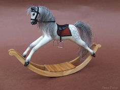 OOAK Miniature dollhouse rocking horse - 1:12 - by Steve Panner IGMA