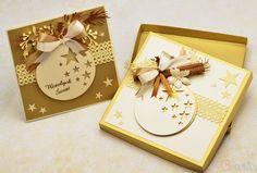 Kartka na Boże Narodzenie Wesołych Świąt bombka z cynamonem + pudełko Cz-art Laboratorium kreatywności