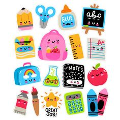 These fun kawaii back to school stickers are great for planning, journaling, decor and much more!