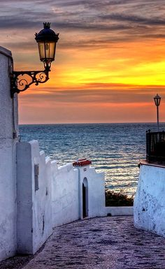 Walkway to the Sea.. Malaga, Spain