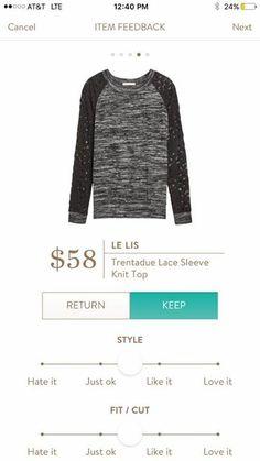 Le Lis Trentadue Lace Sleeve Knit Top - Stitch Fix