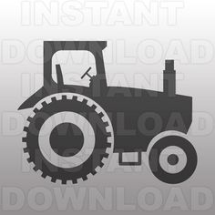 Farm Tractor SVG File Cutting Template-Vector Clip Art by sammo