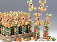 bolsitas para chocolate de conejitos y huevos - Buscar con Google