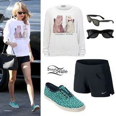 Taylor Swift: Cat Sweater, Floral Keds- Taylor Swift Style Steal