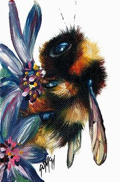 Bee Painting, Painting & Drawing, Animal Drawings, Art Drawings, Animal Art Prints, Bee Art, Painting Inspiration, Framed Art Prints, Amazing Art