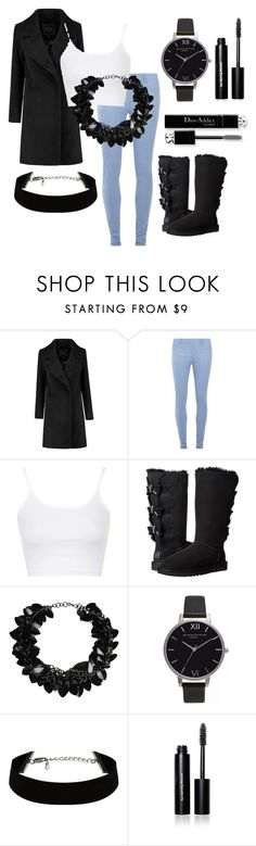 """Must have look"" by mrudula-26 on Polyvore featuring Dorothy Perkins, Topshop, UGG Australia, First People First, Olivia Burton, Christian Dior, Bobbi Brown Cosmetics, women's clothing, women and female"