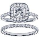 Diamond Encrusted Princess Cut Ring
