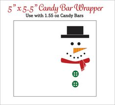 Items similar to Snowman Candy Bar Wrappers - Printable Snowmen Candy Wrappers - Christmas Candy Bar Wrappers on Etsy Christmas Chocolate Bar Wrappers, Christmas Wrapper, Christmas Candy Bar, Diy Christmas Gifts, Xmas, Christmas Porch, Outdoor Christmas, Christmas Time, Candy Bar Wrapper Template