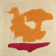 Only Orange, 1963 by Helen Frankenthaler. Color Field Painting. abstract