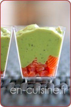 Verrines de guacamole et saumon fumé au Thermomix