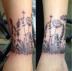This perfect lawn. | 31 Stunning Floral Tattoos To Get You Ready For Spring