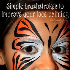 Simple brushstrokes to improve your face painting - Atop Serenity Hill Face Painting Designs, Body Painting, Makeup Trends, Beauty Trends, Halloween Makeup, Halloween Fun, Fun Fair, Body Love, Fun Ideas