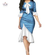 Fashion Vestidos African Dresses for Women Bazin Riche Bow Knot Patchwork Dress . - Fashion Vestidos African Dresses for Women Bazin Riche Bow Knot Patchwork Dress Traditional African Women Clothing Source by - Short African Dresses, Latest African Fashion Dresses, African Print Fashion, Africa Fashion, Shweshwe Dresses, African Fashion Designers, African Traditional Dresses, Patchwork Dress, African Attire