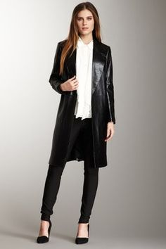 Robert Rodriguez Modern Leather Coat...luv this!