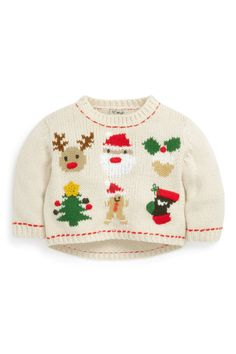 Buy Christmas Character Jumper from the Next UK online shop 2013 Christmas Knitting Patterns, Baby Knitting Patterns, Baby Patterns, Christmas Jumpers, Ugly Christmas Sweater, Stylish Jeans, Christmas Trends, Christmas Characters, Denim Trends