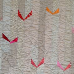 Birds? Butterflies? Origami? Quilt artist Sarah Nishiura won't say but I love to debate with myself about the answer. To be in the shop soonish.