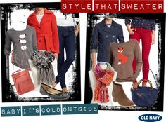 """""""Style That Sweater with Old Navy"""" by allison-biggs-gd on Polyvore"""