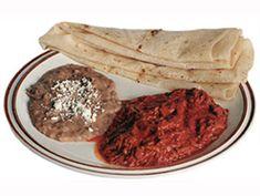 Carne con chile colorado sonora