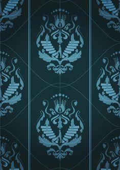 Adobe Illustrator & Photoshop tutorial: Design damask patterns for wallpaper and homewares