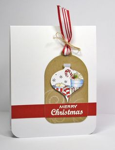 ornament/tag on a card