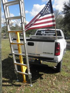 The ultimate American-Made ladder stabilizer. Support small businesses and U.S. manufacturing by re-pinning. $449.00 www.monkeyrack.com Truck Tools, Truck Tool Box, Garage Tools, Cool Tools, Diy Tools, Ladder Stabilizer, Ladder Hooks, Construction Tools, Tools Hardware