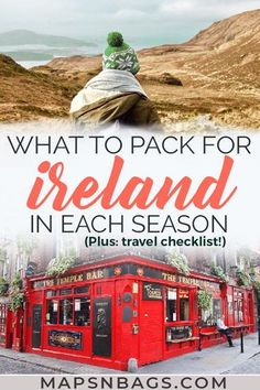 Not sure what to pack for Ireland? Check out this ultimate Ireland packing list for all seasons! Including a travel checklist and lots of tips. Read more! Packing List For Travel, Travel Checklist, Europe Travel Tips, Travel Guides, Packing Lists, Travel Destinations, Traveling Europe, Travel Advice, Travelling