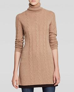 Magaschoni Cable Cashmere Tunic Sweater | Bloomingdale's
