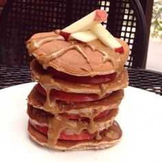 Ripped Recipes - Vanilla Apple Almond Protein Pancakes - Delicious high protein, low carb, fall-themed pancakes! High Protein Low Carb, High Protein Recipes, Low Carb Recipes, Protein Power, Protein Bread, Protein Pancakes, Protein Foods, Dairy Free Recipes, Vegan Recipes