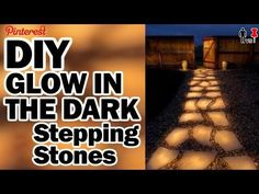 How to Make Glow in the Dark Stepping Stones. If you want to go above and beyond with a walkway, glow in the dark stepping stones are for you. These stones will look great in your yard or garden, and you can easily make them yourself.