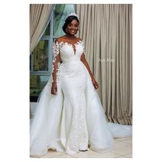 Here are some lovely wedding gowns that will make you appear beautiful in your wedding day. These wedding gowns come in different styles just to make your wedding extra cool. Plus Wedding Dresses, Stunning Wedding Dresses, Bridal Dresses, Wedding Gowns, Wedding Attire, Wedding Bride, Lace Gown Styles, African Wedding Dress, African Weddings