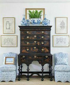 Be. Still. Heart.  #interiordesign by @sarahbartholomewdesign  #commanderinchic #interior #design #interiors #home #decor #homedecor #bespoke #luxury #chinoiserie #blueandwhiteforever