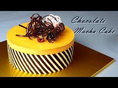[Eng Sub] 부드러운 모카 초코 케이크 만들기 / Soft Chocolate mocha cake recipe /Double berry jam / 커피 케이크 / coffee - YouTube