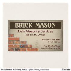 Brick mason masonry business card pinterest masons masonry and brick mason masonry business card colourmoves