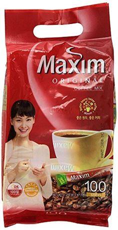 Maxim Original Korean Coffee - Product Name: Maxim Original Coffee Mix Ingredients: Dried Coffee, Sugar, Creamer NET WT.: x 100 pks) Product of Korea Coffee Mix, Coffee Uses, Coffee Type, Espresso Coffee, Hot Coffee, Coffee Drinks, Korean Coffee, Different Types Of Coffee, Amazon Website