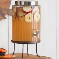 """Beautiful lovely Fall drink!!~~~2 cans frozen apple juice concentrate & 2 liters club soda = Homemade """"Martinelli's"""" sparkling apple juice!!"""