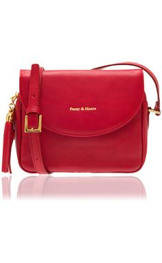 The Daisy in red, cross body bag, £129. #SS15