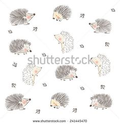 CHILDISH HEDGEHOG CUTE PATTERN DESIGN. For fabrics, textile, wall prints, cards, etc. Editable vector illustration file,