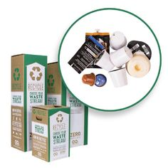 Terracycle Us 18 Gal. Coffee Capsules Recycling Containers Mail Back Zero Waste Boxes Green Recycling Bin, Recycling Containers, Recycling Station, Ups Shipping, Shipping Boxes, Shipping Label, Container Specifications, Cardboard Recycling, Waste Container
