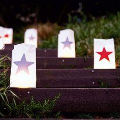 Easy star luminaries for your holiday picnics, via Sunset.com